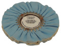 Zephyr Blue/White Show Shine Final Finish Airway Buffing Wheel - 8 inch