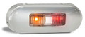 LED Autolamps  Red/Amber Side Marker Light with Stainless Steel Cover