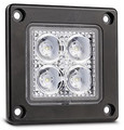 Recessed LED Flood/Reverse Lamp with Black Housing - MultiVolt