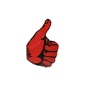 Sticker Thumbs Up Red Left