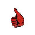 Sticker Thumbs Up Red Right