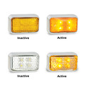 35 Series Amber LED Side Direction Indicator -Clear Lens with Chrome Base