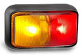 Bulk Pack - LED Autolamps 58 Series Red/Amber LED Marker Light with Black Base Box of 10