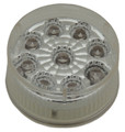 2 inch Round Amber LED Marker Light with Clear Lens complete with Rubber grommet & plug