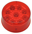 2 inch Round Red LED Marker Light with Red Lens complete with rubber grommet & plug