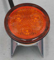 Amber LED Round Light.Suits Chassis Pole.Multivolt 12/24 Volt.