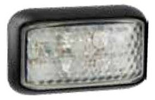 LED autolamps White LED Marker Lamp with Black Base. 4 LED Diodes. Multivolt 12/24 Volt. 5 Year Warranty. ADR Approved.