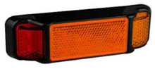 LED autolamps Red/Amber LED Marker Light with Built In Reflector. 4 LED Diodes. Multivolt 12/24 Volt. 5 Year Warranty. ADR Approved.