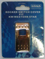 Gold Plated Rocker Switch Cover.