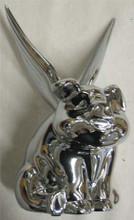 Chrome Flying Pig Hood Ornament.