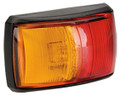 Narva Red/Amber LED Side Marker Light, with Red/Amber Lens and Black Base. Multivolt 12/24 Volt. 5 Year Warranty. ADR Approved.