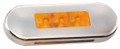 Lucidity Amber Flush Mount LED Marker Light with Amber Lens & Stainless Steel Cover