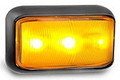 58 Series Amber LED Marker Light with Black Base