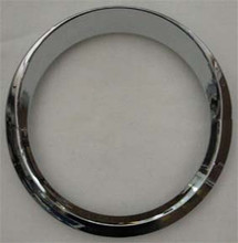 Chrome Speedo/Tacho Bezel with Visor. To Suit Kenworth.
