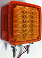 Amber Double Face LED Indicator with Amber Lens. 2 Stud. 12 Volt Only. 5 Year Warranty.