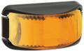 Narva Amber LED Marker Light, with Clear Lens and Black Base. Multivolt 12/24 Volt. 5 Year Warranty. ADR Approved.