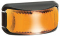 Narva Amber LED Side Direction Indicator Light, with Clear Lens and Black Base. Multivolt 12/24 Volt. 5 Year Warranty. ADR Approved.