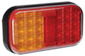 Narva LED Stop/Tail/Indicator Light, with Amber/Red Lens and Built in Reflector. Multivolt 12/24 Volt. 5 Year Warranty. ADR Approved.