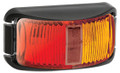 Narva Red/Amber LED Side Marker Light, with Clear Lens and Black Base. Multivolt 12/24 Volt. 5 Year Warranty. ADR Approved.