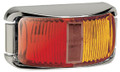 Narva Red/Amber LED Side Marker Light, with Clear Lens and Chrome Base. Multivolt 12/24 Volt. 5 Year Warranty. ADR Approved.