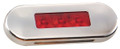 Lucidity Red Flush Mount LED Marker Light with Red Lens & Stainless Steel Cover