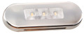 Lucidity White Flush Mount LED Marker Light with Clear Lens & Stainless Steel Cover