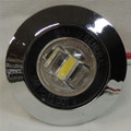 1 inch Mini White LED Light with Chrome Bezel