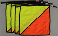 Oversize Red/Yellow Heavy Duty Flag - Pack of 4
