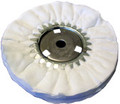 Zephyr White Domet Flannel Airway Buffing Wheel - 8 inch
