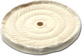 Zephyr White Muslin 86/80 30 Ply 3-Row Sewn Buffing Wheel