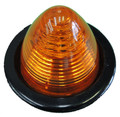 2 inch Round Amber LED Beehive Marker Light with Pigtail and Grommet