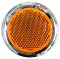 Round Amber Reflector with Chrome Rim - Pair