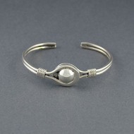 Sterling Silver Ball and Loop Cuff