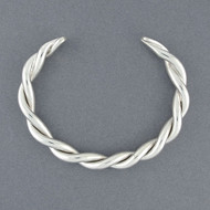 Sterling Silver Heavy Twisted Cuff