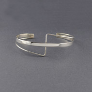 Sterling Silver Criss Cross Cuff