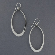 Sterling Silver Large Open Oval Earrings