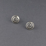 Sterling Silver Cutout Spiral Earrings
