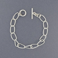 Sterling Silver Curved Link Bracelet