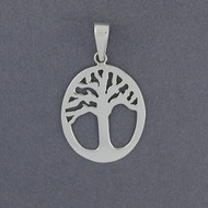 Sterling Silver Framed Tree Pendant