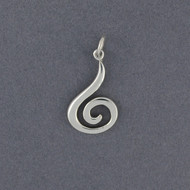 Sterling Silver Hanging Spiral Pendant