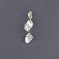 Sterling Silver Mini Ribbon Pendant