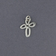Sterling Silver Bubble Cross Pendant