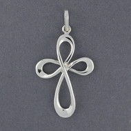 Sterling Silver Large Endless Cross Pendant