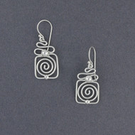 Sterling Silver Squiggle Dangle