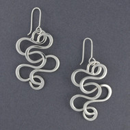Sterling Silver Large Squiggle Earrings