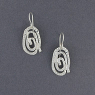 Sterling Silver Textured Spiral Dangles
