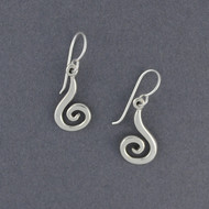 Sterling Silver Long Spiral Dangles