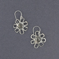 Sterling Silver Cutout Flower Earrings