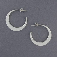 Sterling Silver Thick Crescent Hoop