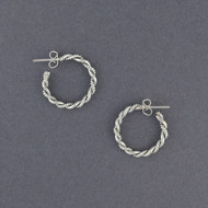 Sterling Silver Double Twisted Hoop